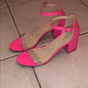 """Hot Pink 2"""" Block Heels"""